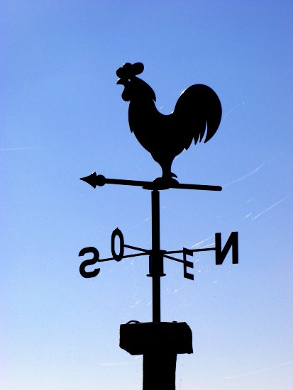 weathervane sky weathercock cockerel october France