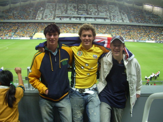 Us at the Australia vs Bahrain soccer game