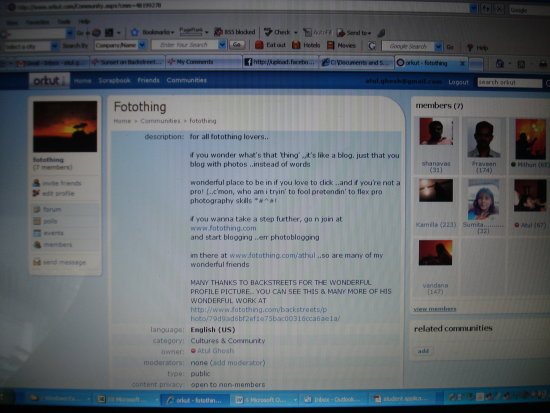 fotothing community @ orkut