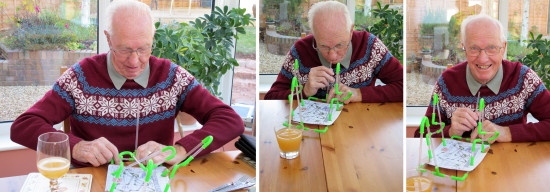 My parents came for lunch today. Stephen gave Dad a straw for his apple juice - but he had to bui...