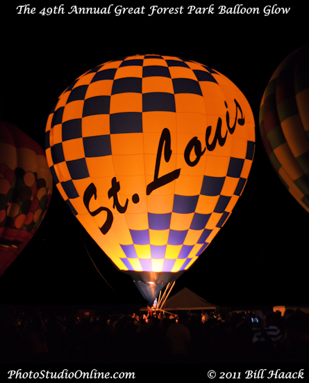 stlouis missouri usa Forest Park Great Balloon Race night glow 091810