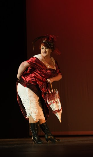another burlesque pic, almost old time music hall,