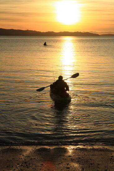 sunrise fishing kayak