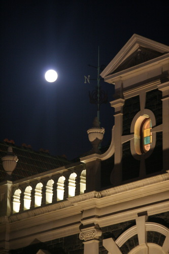 Moonrise Dunedin Railway Station