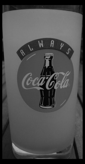 B W Coca Cola Glass