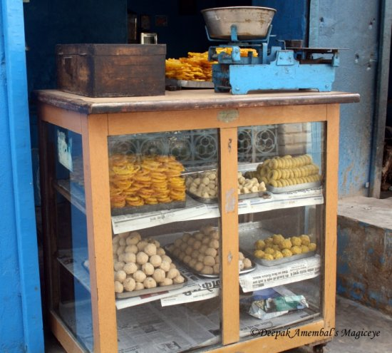 sweets sale shop street mandawa rajasthan india