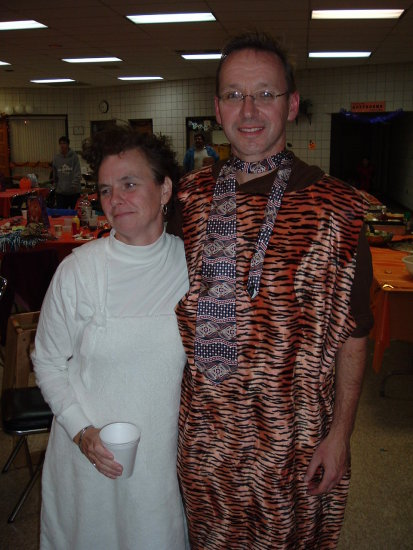Fred Flintstone and his wife