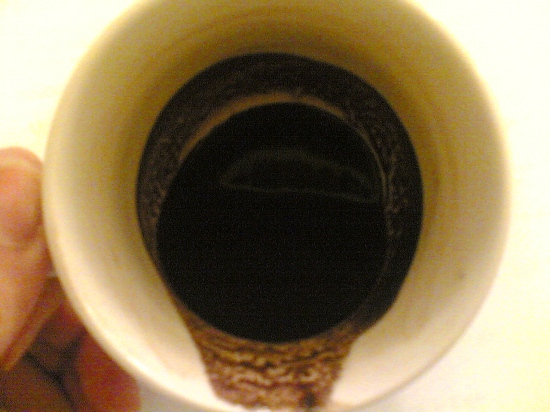 my second cup of coffee.....