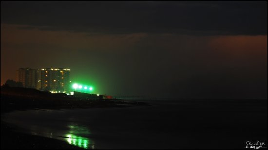 Night Nightshot Sea Lights Sky Landscape Building Iran Northern of Iran