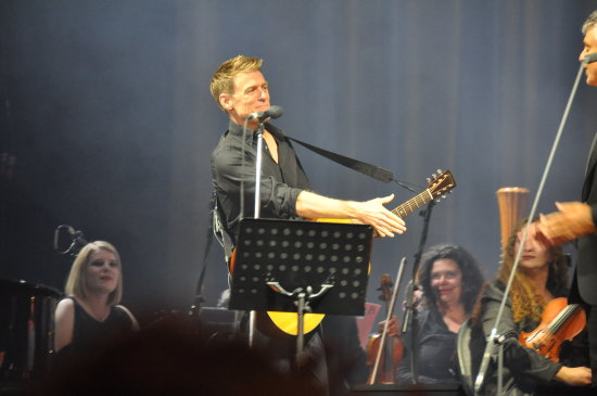 Bryan Adams during his tour with Andrea Bocelli