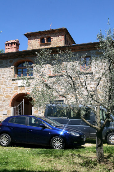 Our place, the mansion of Poggio Cuccole, just outside Montevarchi.  .