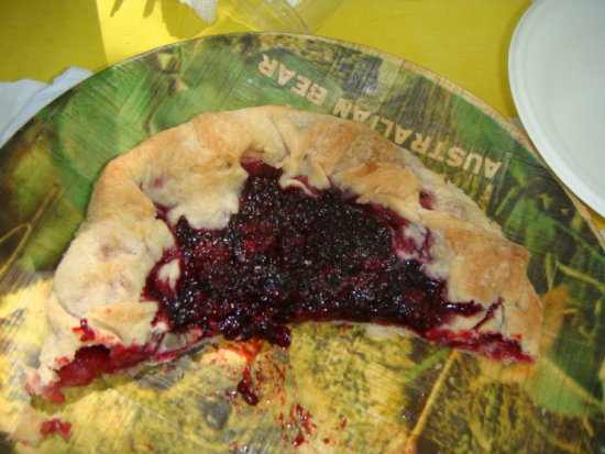 Blackberry galette peoples comet