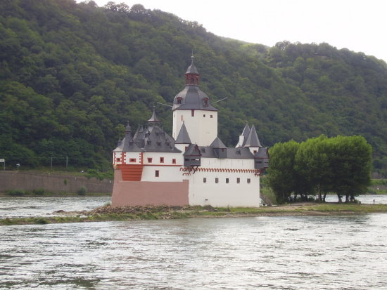 river rhein germany buildings castle castles