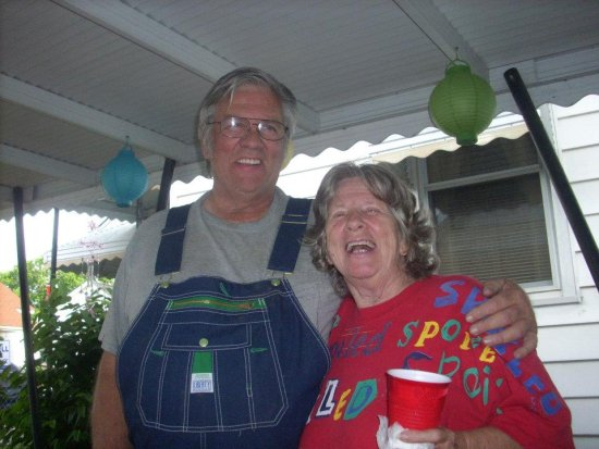 my mom and me, at our cook out...