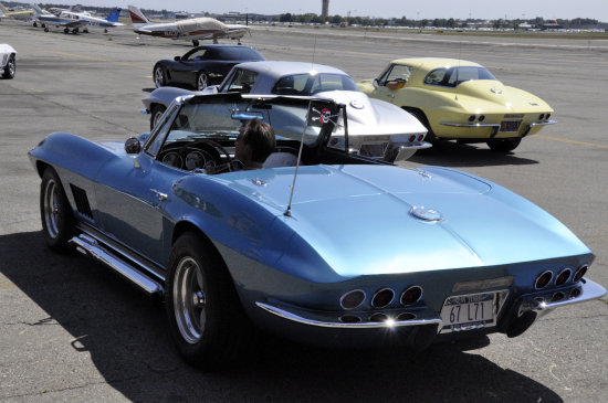 americanairpower museum longisland corvette club rally