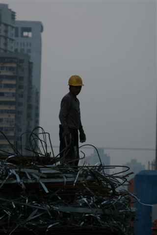 Hard working men one of 200 million migrant workers in China