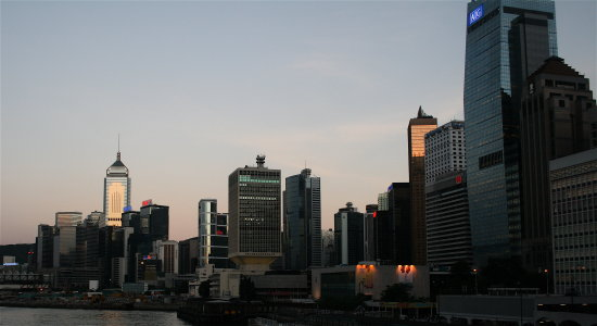 hongkong evening buildings