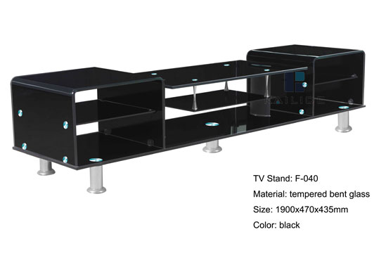 Black glass tv stand Glass TV Stand Supplier Glass Furniture for sale Color Gl