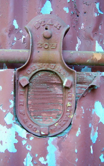 Old hardware on building