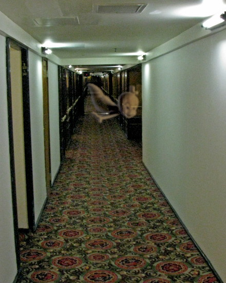 I Got A Photo Of A Ghost In The Hallway Of The Queen Mary