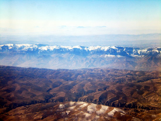 Afghanistans Mountains picture taken from Airoplane