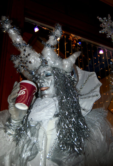 coffee break for a snow queen