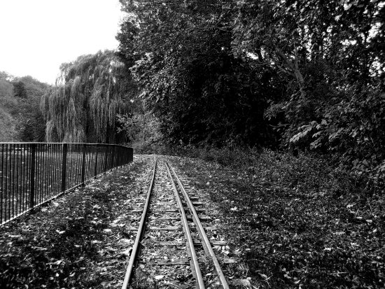 Disused rail track armley mill