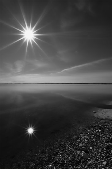 reflections sun salt monochrome black white digital