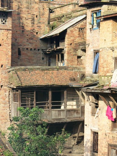 Nepal Bhaktapur Bricks Buildings Weesue