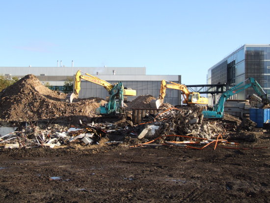 Schiphol airport holland demolition
