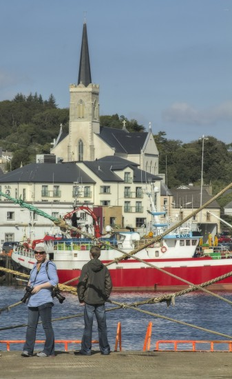 Killybegs Donegal Ireland harbour harbor trawlers