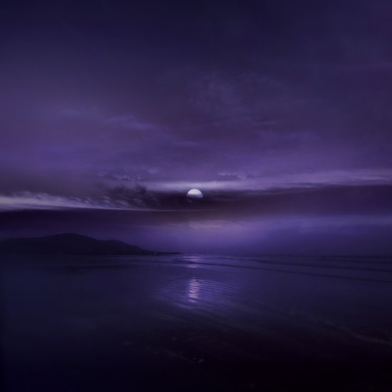 violet landscape beach dream ocean mountains moony ireland keitology
