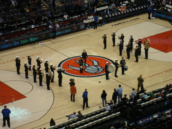 At 8:14pm-ACC-HMCS YORK Marching band-Toronto,Ontario-Saturday,Jan.26,2013