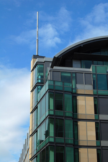 building architecture contemporary modern glass mast
