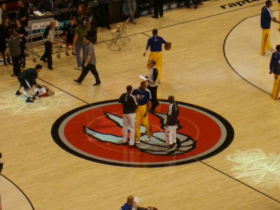 At 6:55pm-At Air Canada Centre-On Saturday,Jan.26,2013