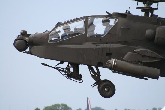 biggin hill international air display show Apache helicopter