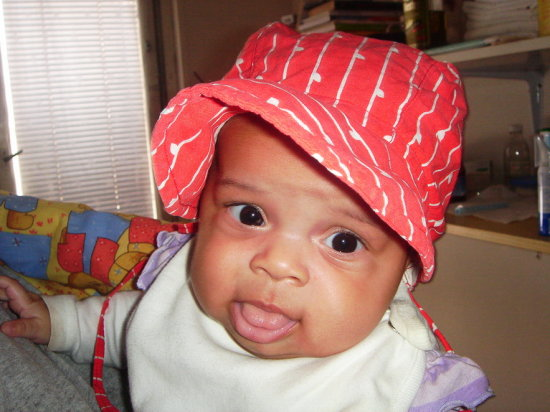 baby girl red cap