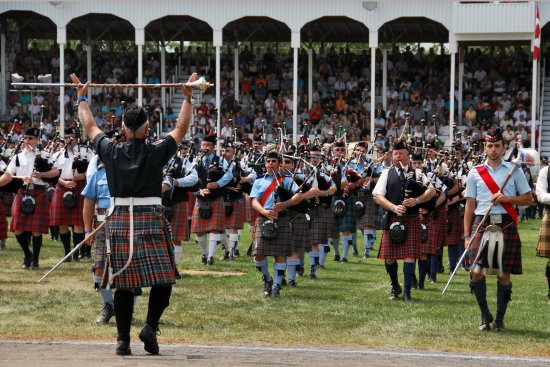 massed pipes and drums...a tiny portion of them.  The field was filled.