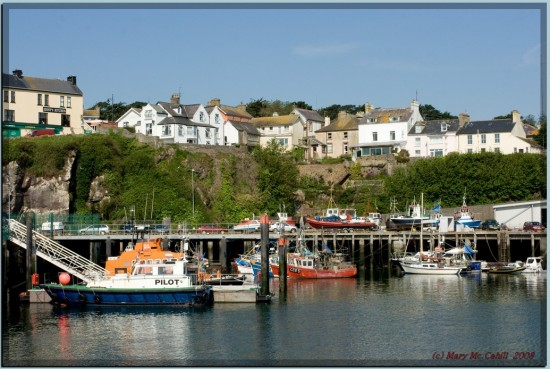 trawlers boats fishing dunmore waterford pier harbour ireland