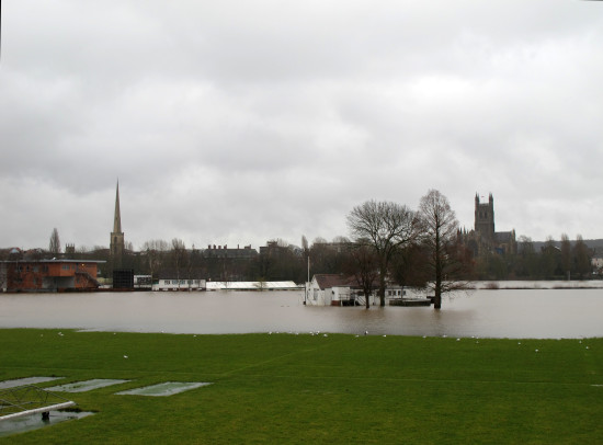 Worcester in the floods
