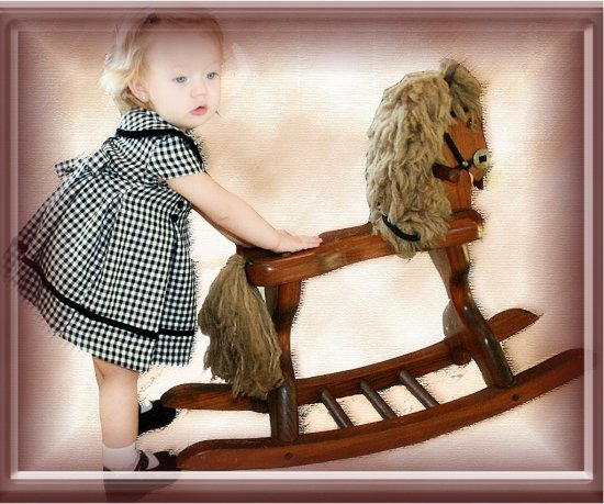 photo shopped rocking horse