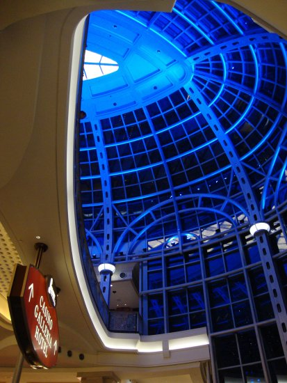 At 7:03pm-We went in the Fallsview Casino for a few minutes-so I took a couple of photos from whe...