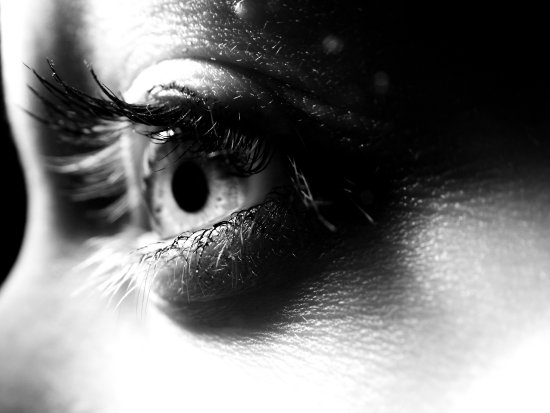 eye blackandwhite light lashes macro closeup girl