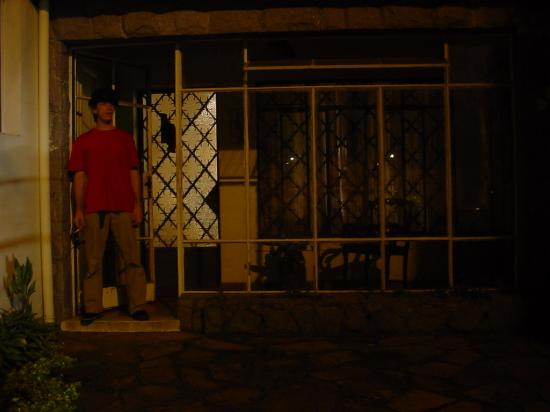 """Mr. Becker in front of his house, before the walk through """"São Paulo"""" at morning (3:00 in the mo..."""