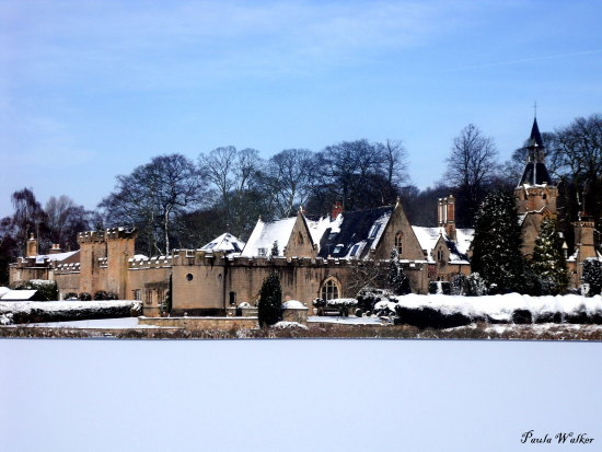frozen lake newstead abbey