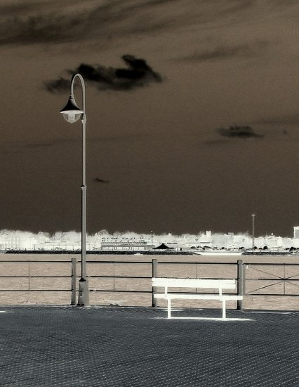 Bench Lightpost Shoreline