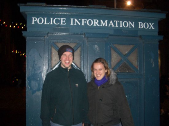 The new Dr Who and his sidekick visit Edinburgh