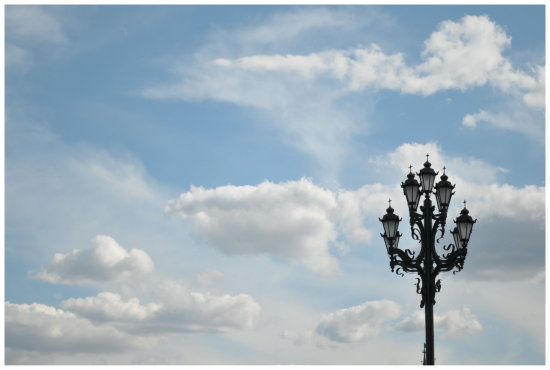 lamp moscow sky clouds