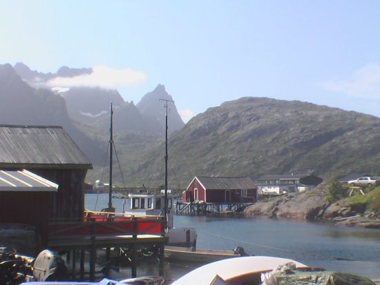 Norway: small fisher village on Lofoten Island