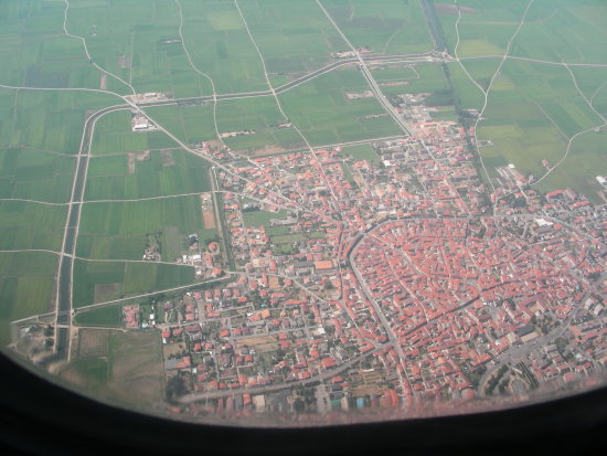Milano from the plane.....